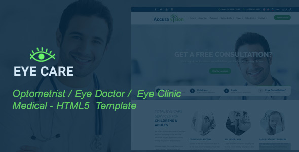 EyeCare – Optometrist, Eye Doctor, Laser Vision, Ophthalmologist,  Medical HTML5 Template
