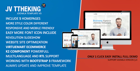 TheKing | Multipurpose Business Agency Joomla Template