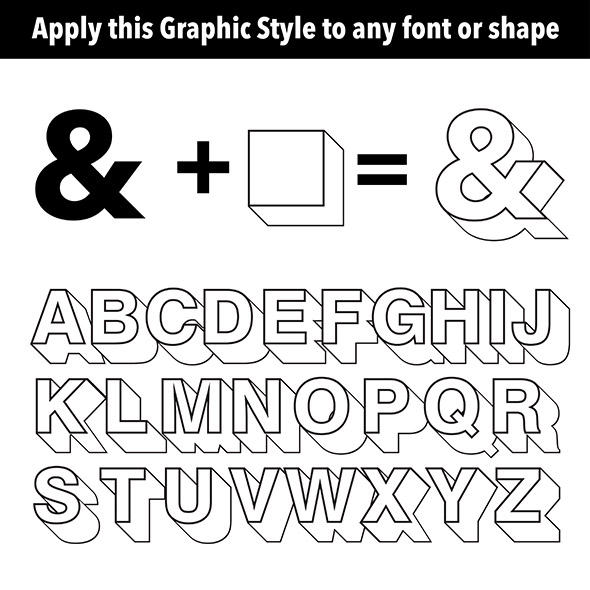 3d Extruder  - Styles Illustrator