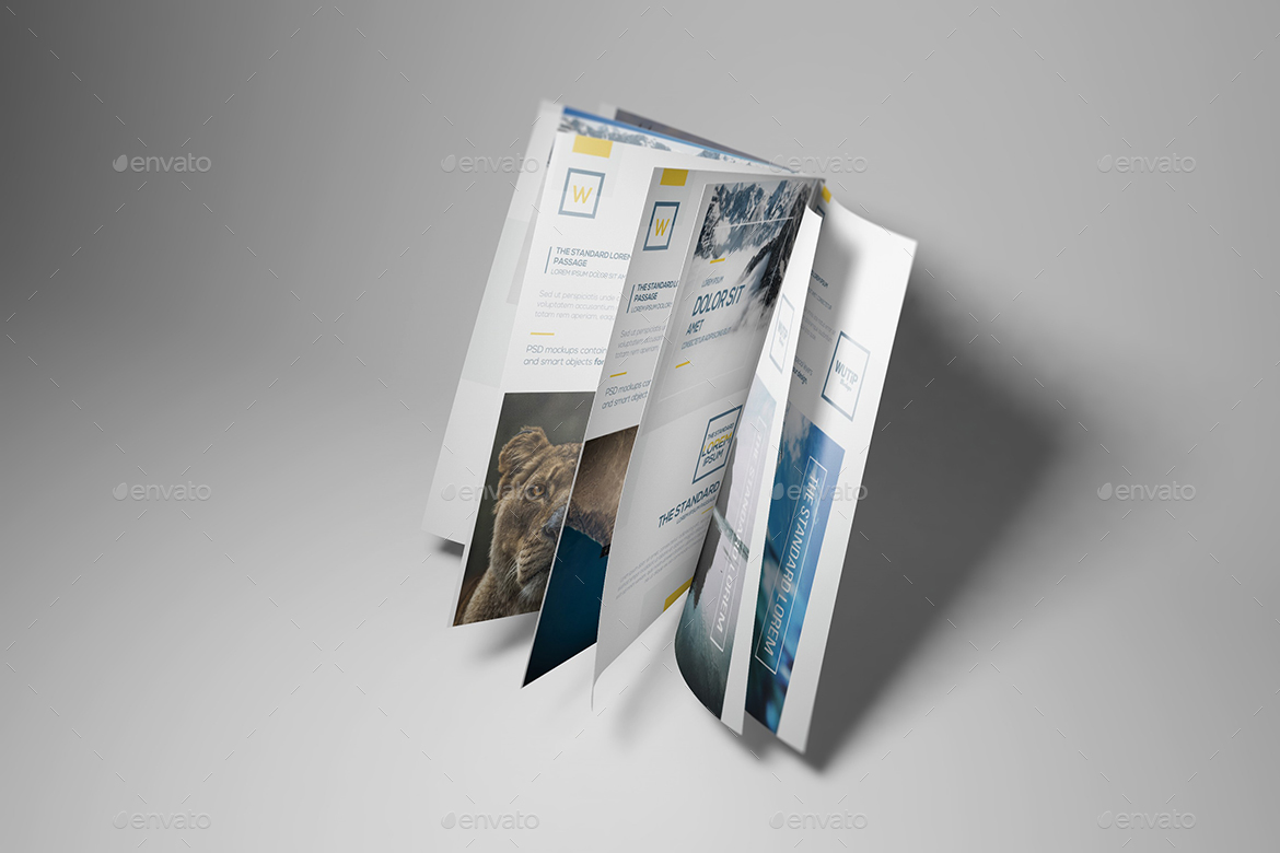 A4/A5 Brochure-Booklet Mockups by Wutip   GraphicRiver