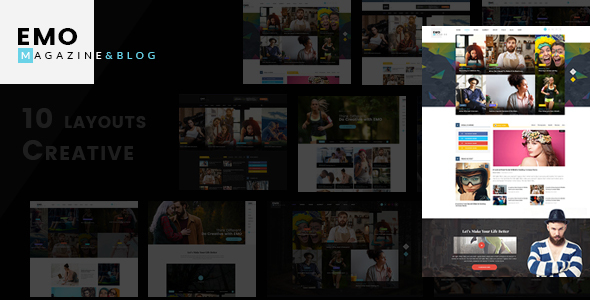 EMO – Ultimate Magazine, News & Blog PSD Template