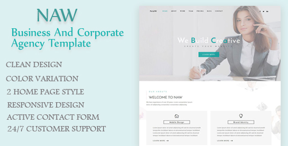 Naw – Business and Corporate Agency Template