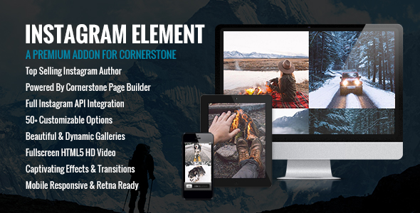 Instagram Element - Cornerstone Element for Wordpress - CodeCanyon Item for Sale