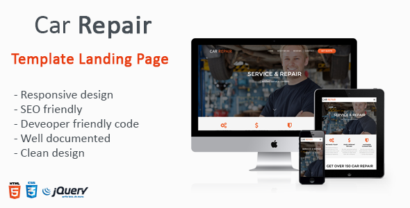 Car Repair – One Page Landing Page