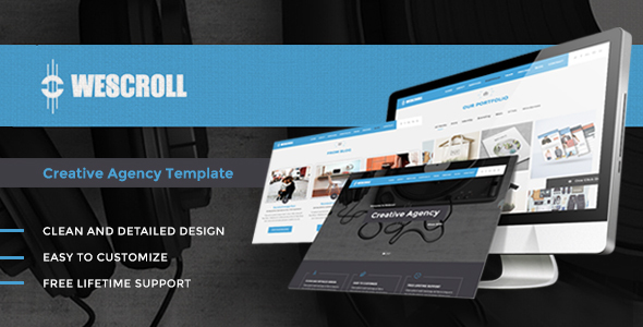 WeScroll – Creative OnePage WordPress Theme