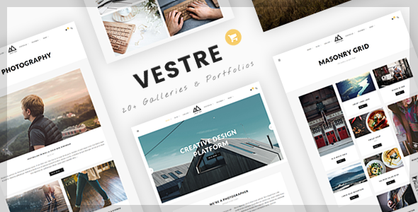 Vestre | Creative Photography WordPress Theme