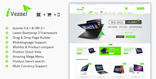 Image of iVissel - MultiPurpose Responsive Virtuemart Joomla Template