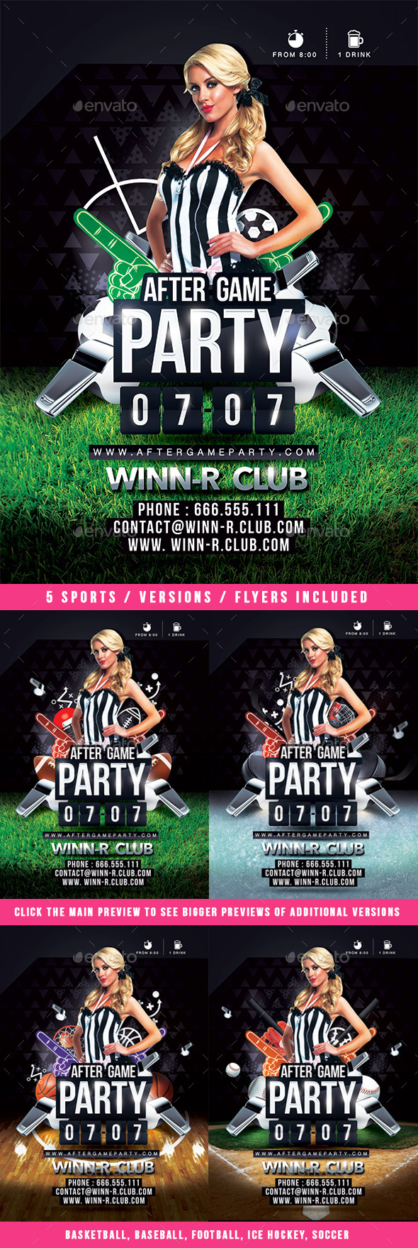 After Game Party - Events Flyers