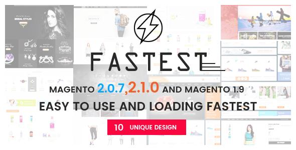 Fastest – Magento 2 themes – Magento 2.1.0  & Magento 1.9 Multipurpose Responsive Theme (10 Design)