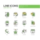 Contact Us - Line Design Icons Set