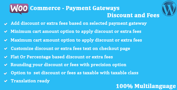 WooCommerce - Payment Gateways Discount and Fees - CodeCanyon Item for Sale