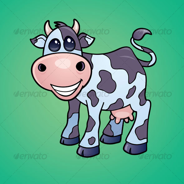 Dairy Cow Cartoon - Animals Characters