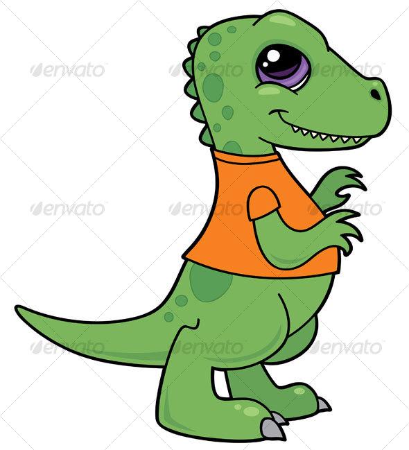 Baby Tyrannosaurus Rex Dinosaur - Animals Characters