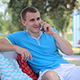 Man Talking On The Phone In The Park - VideoHive Item for Sale