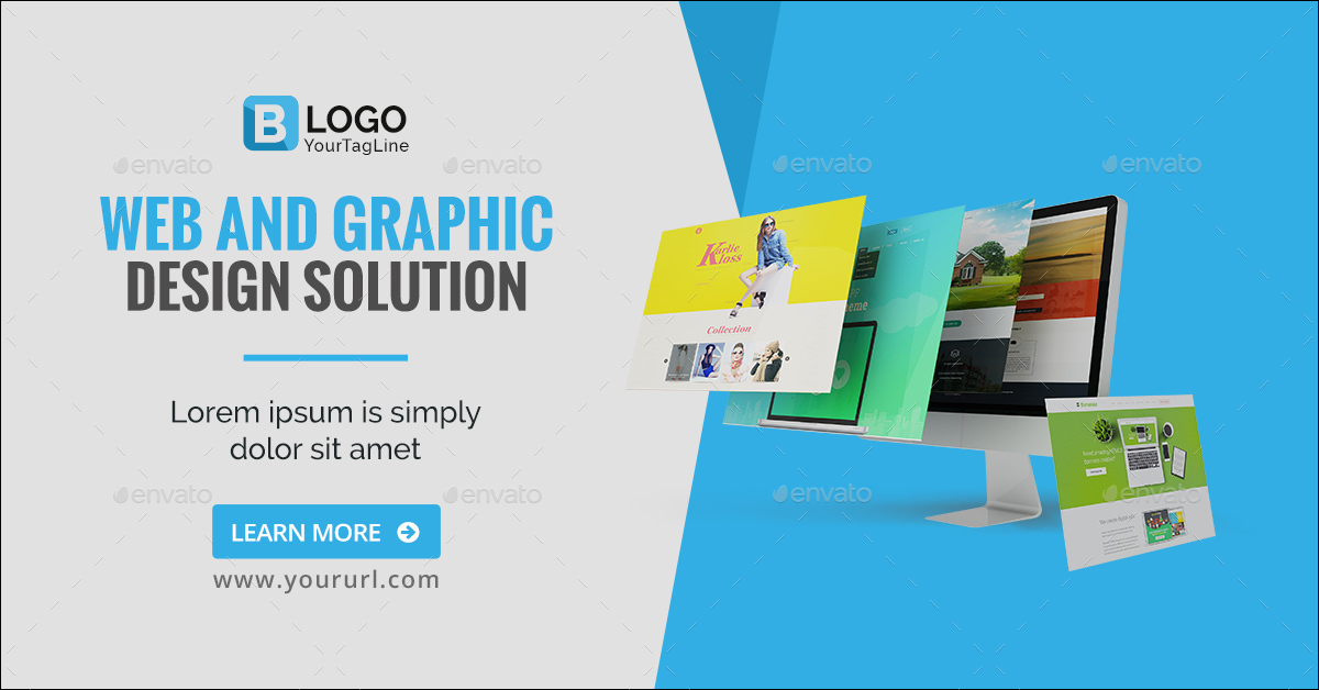 Web and Graphic Design Banners - Image Included by doto | GraphicRiver