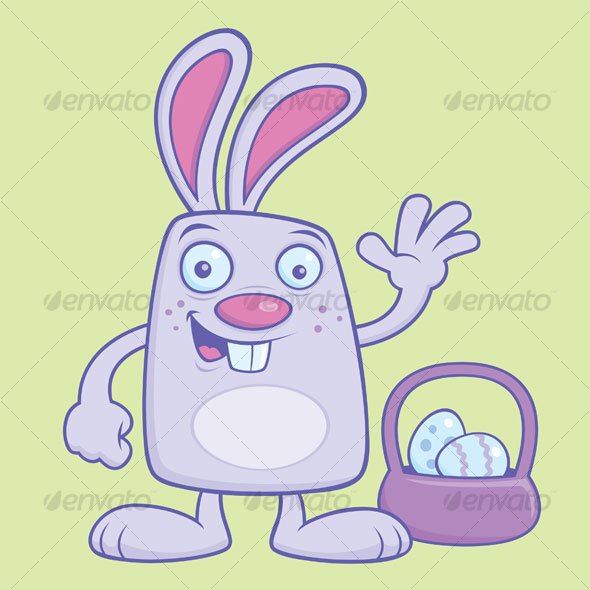 Silly Cartoon Easter Bunny  - Animals Characters