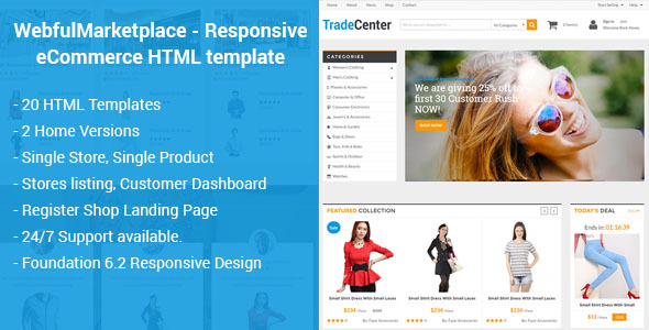 Marketplace Website Templates from ThemeForest