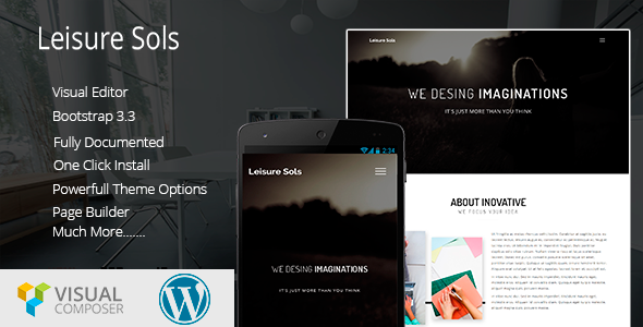 Leisure Sols Corporate Business WordPress Theme