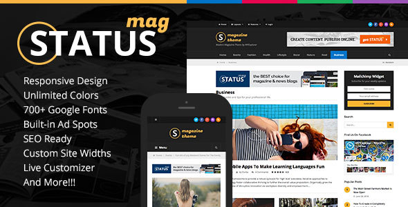 Status Responsive News & Magazine Blog Theme