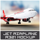 Jet Airplane A321 Mock-Up - GraphicRiver Item for Sale