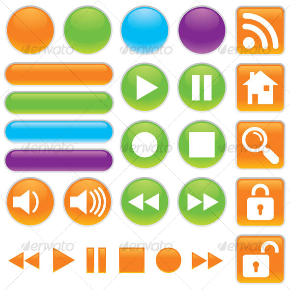 Audio And Video Buttons - Decorative Symbols Decorative