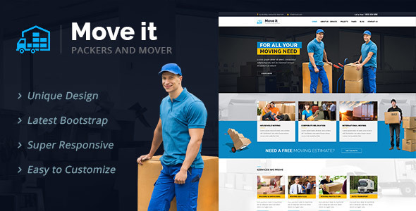 MoveIt – Moving Company WordPress Theme