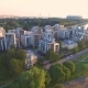 Residential Complex In The Park At The Sunset - VideoHive Item for Sale