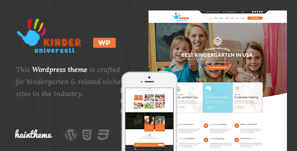 Kinder – Kindergarten & School WordPress Theme