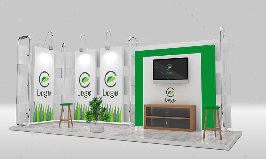 Exhibition Booth Psd : Trade show booth mockup by sbcreation graphicriver
