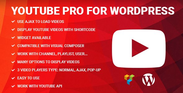 Youtube Pro for WordPress - CodeCanyon Item for Sale