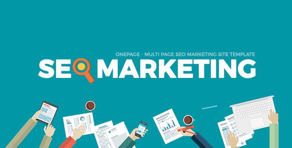 SEOMarkt   Responsive Flat SEO Marketing Onepage Multipage WordPress Theme