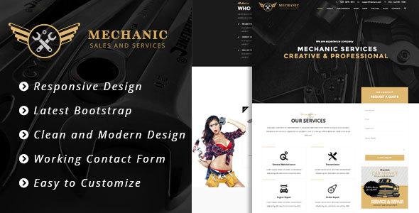 Mechanic – Car Service & Workshop Bootstrap Template