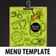 Juice Bar Menu Template - GraphicRiver Item for Sale