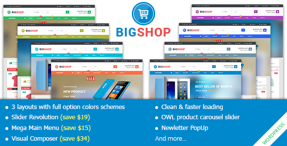 BigShop – Responsive Multi-Purpose Woocommerce WordPress Theme