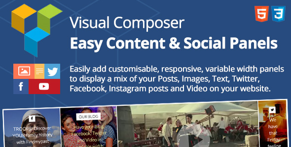 Easy Content & Social Panels for Visual Composer Bset Scripts