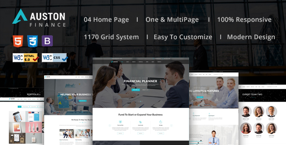 Auston - Finance, Corporate and Consulting Business HTML5 Template