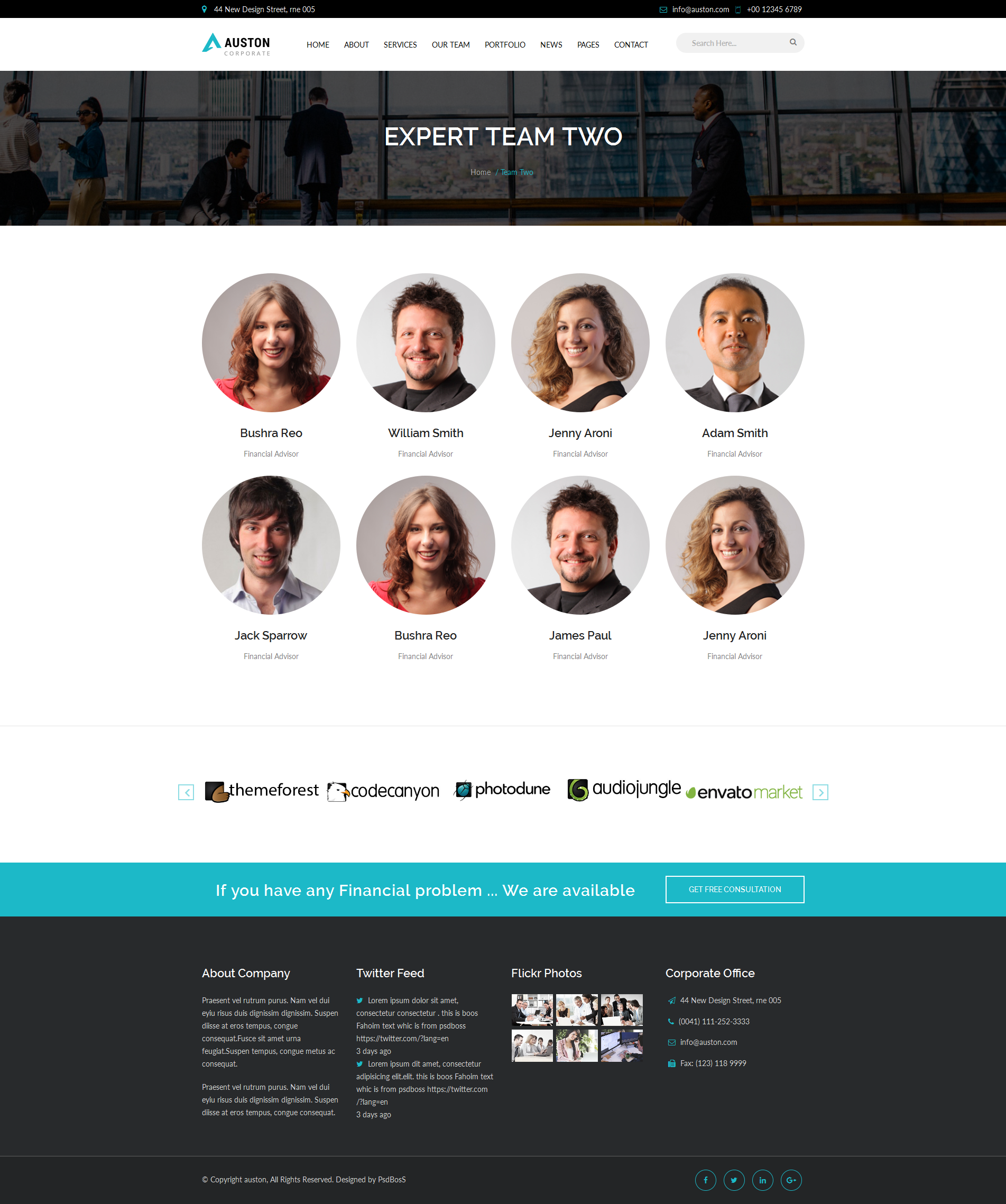 Auston - Finance, Corporate and Consulting Business HTML5 Template ...