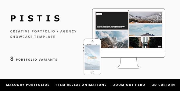 Pistis – Creative Portfolio / Agency Template