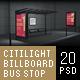 Citylights, Billboards, Bus Stops. Night Mockup. - GraphicRiver Item for Sale