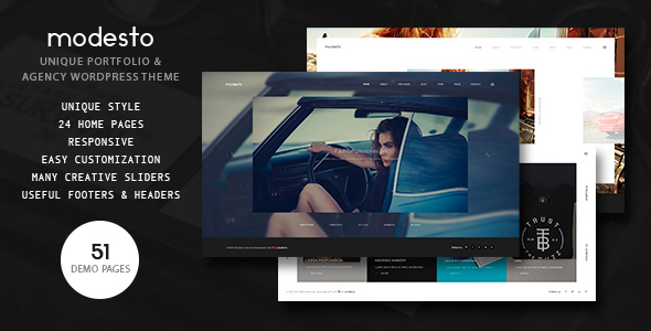 Modesto – Portfolio, Photography, Agency Powerful WordPress Theme
