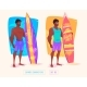 Surfing Guy Cartoon Character - GraphicRiver Item for Sale
