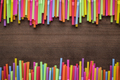 colorful striped bendy cocktail straws - PhotoDune Item for Sale