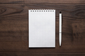 blank notebook and white pen - PhotoDune Item for Sale
