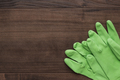 green rubber cleaning gloves - PhotoDune Item for Sale