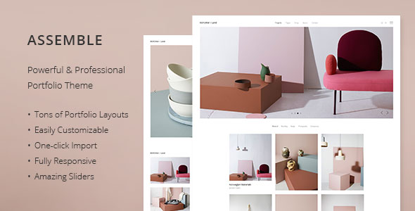 Assemble – A Contemporary Portfolio Theme