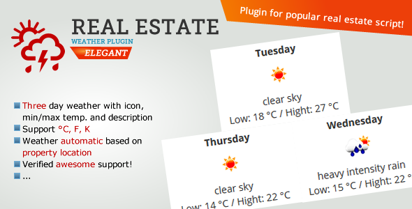 Real Estate Weather Widget
