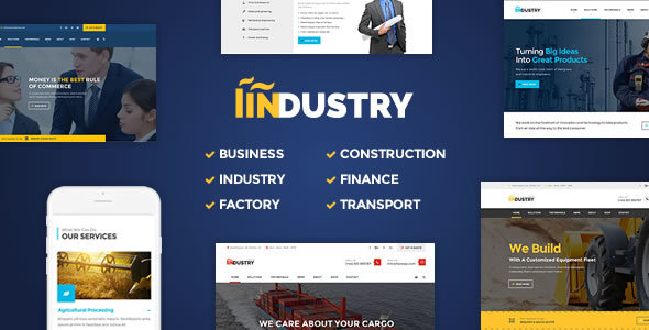 Industry – Business, Factory, Construction, Transport & Finance WordPress Theme