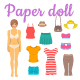 Paper Doll Girl with Summer Clothes Game - GraphicRiver Item for Sale