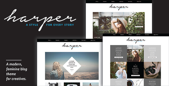 Harper - A Feminine Blog Theme for WordPress