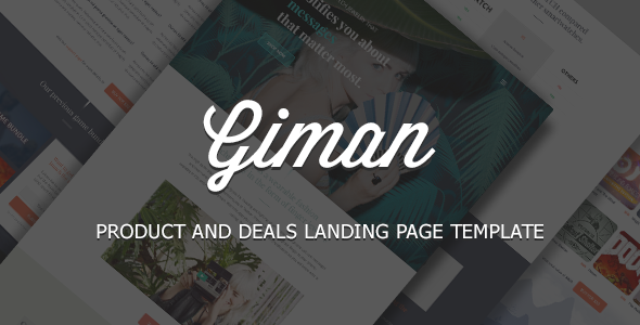 Giman – Product and Deals Landing Page Template